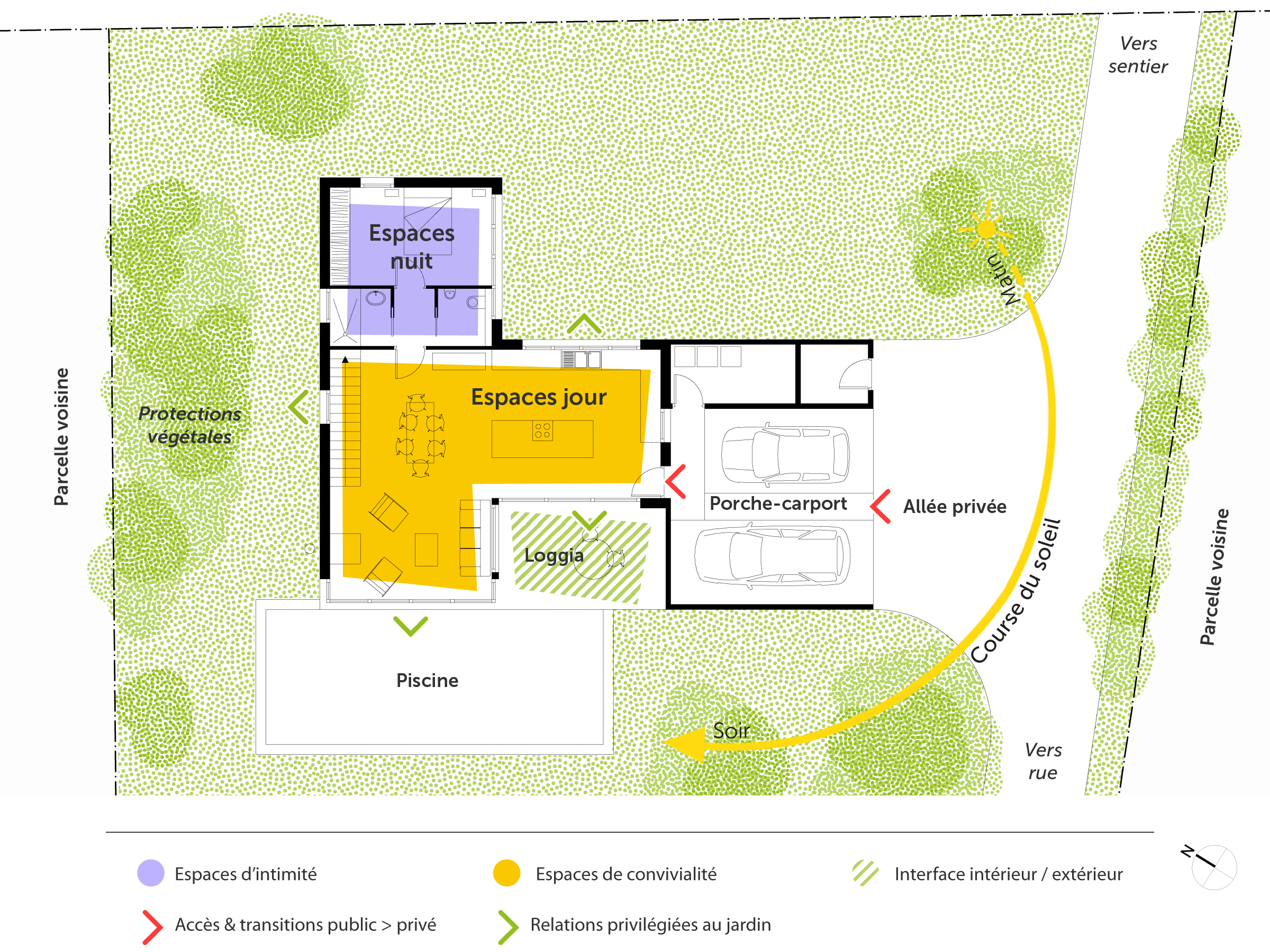 Plan maison en l contemporaine ooreka for Plan de maison contemporaine en l