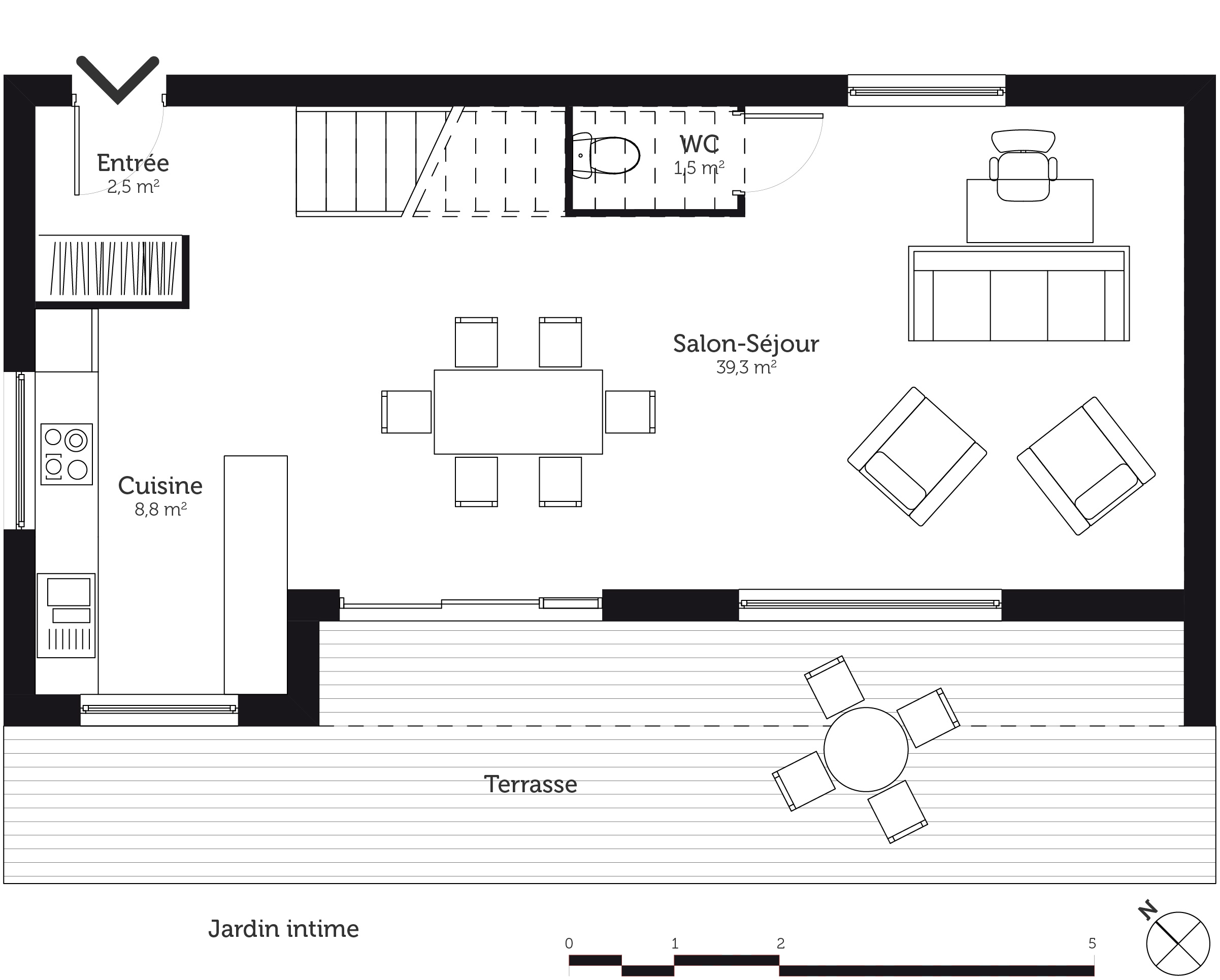 Plan maison tage 110 m avec 3 chambres ooreka for Plan agencement maison