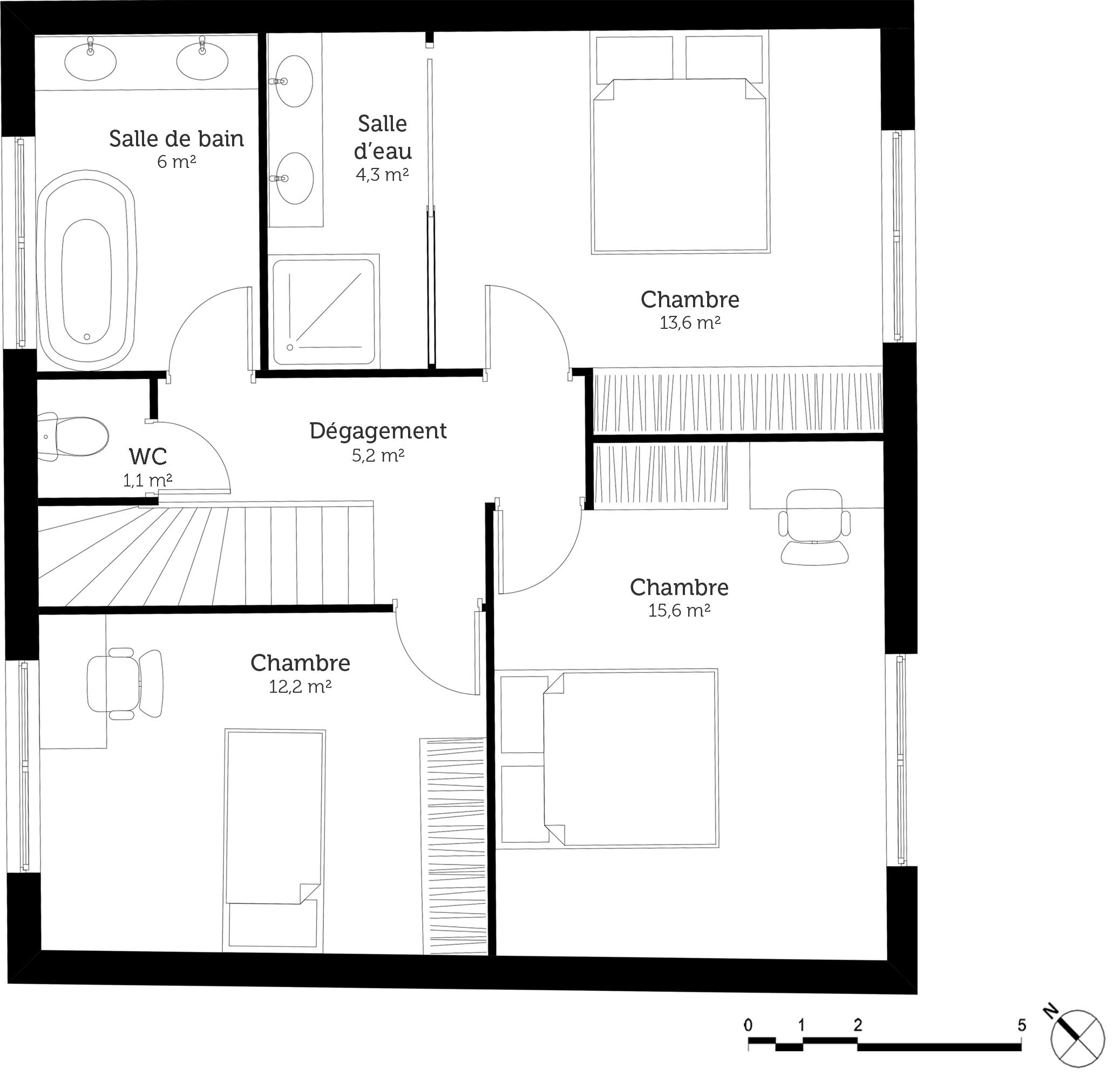 Bien-aimé maison avec terrasse a l'etage YM82