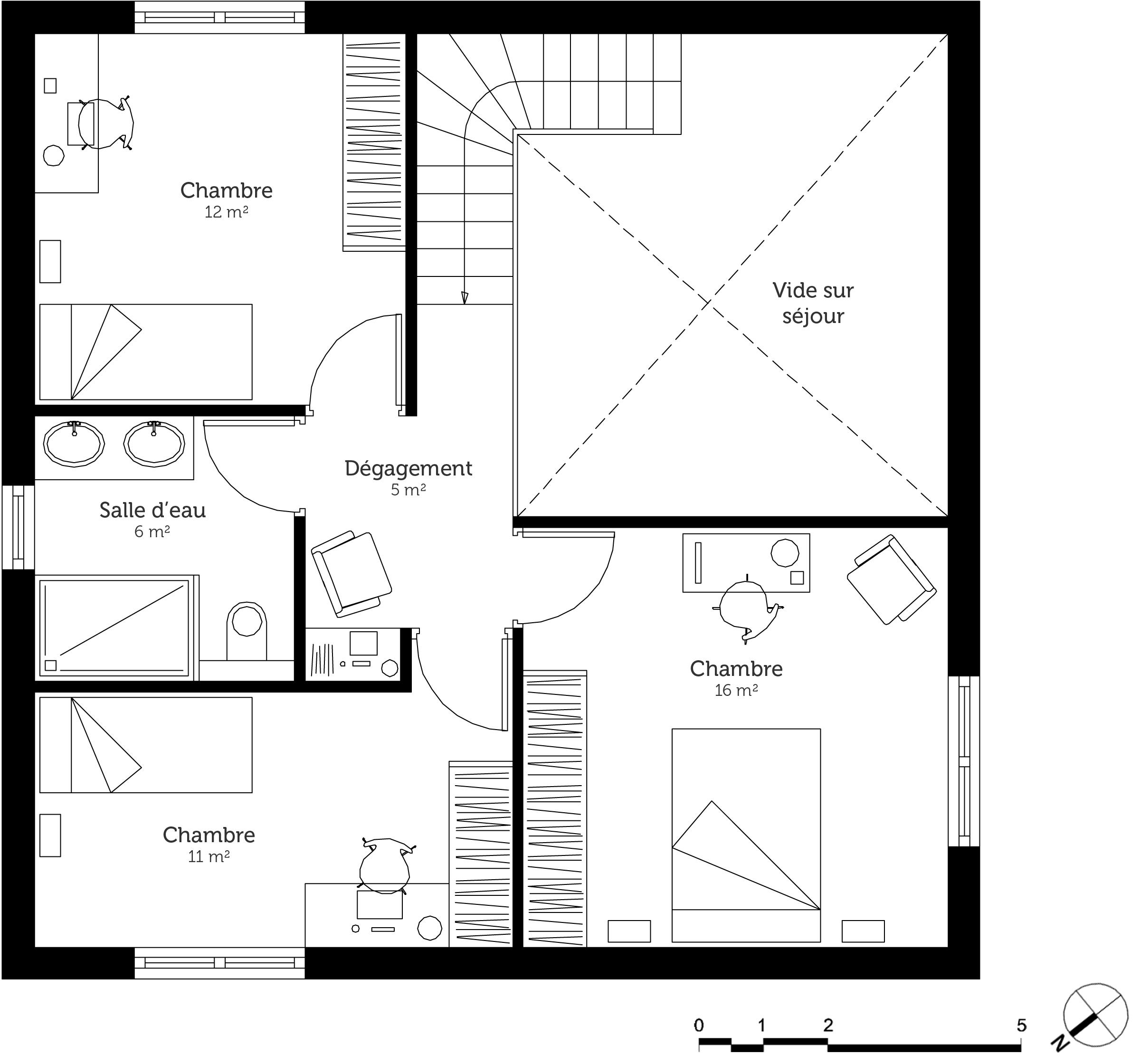 Plan maison design en bois ooreka for Plan maison design