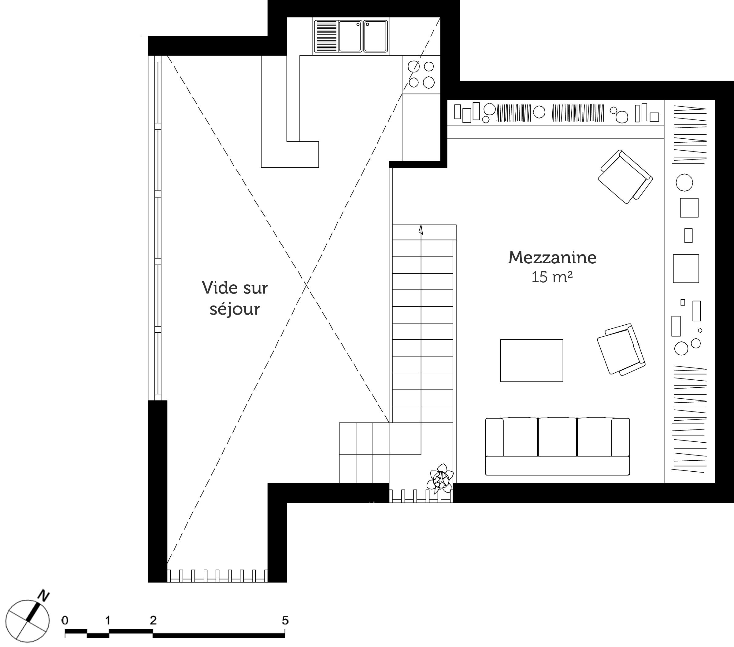 Plan d une maison avec mezzanine maison moderne for Plan maison avec mezzanine