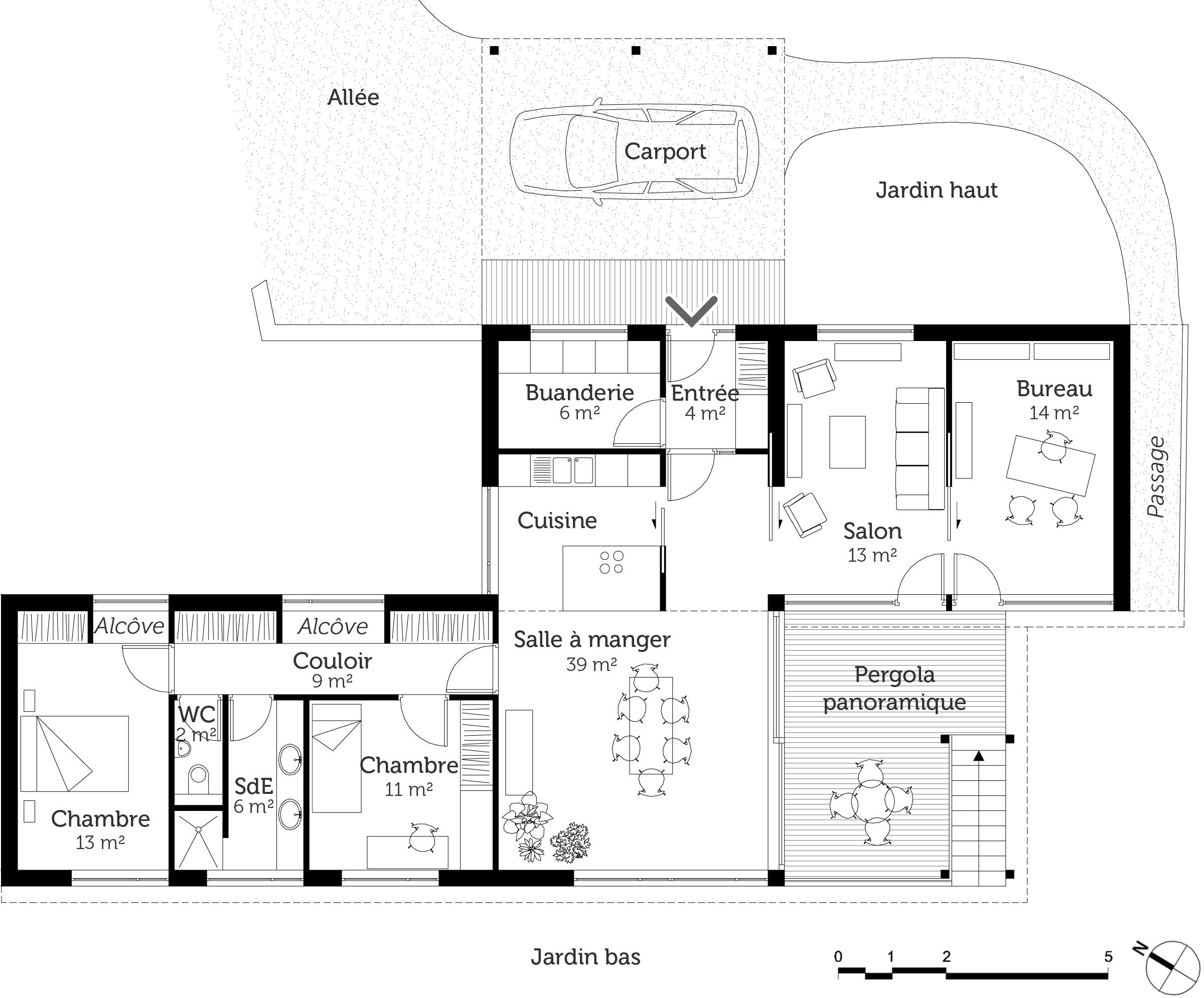 Plan maison sur pilotis ooreka for Maison sur plan