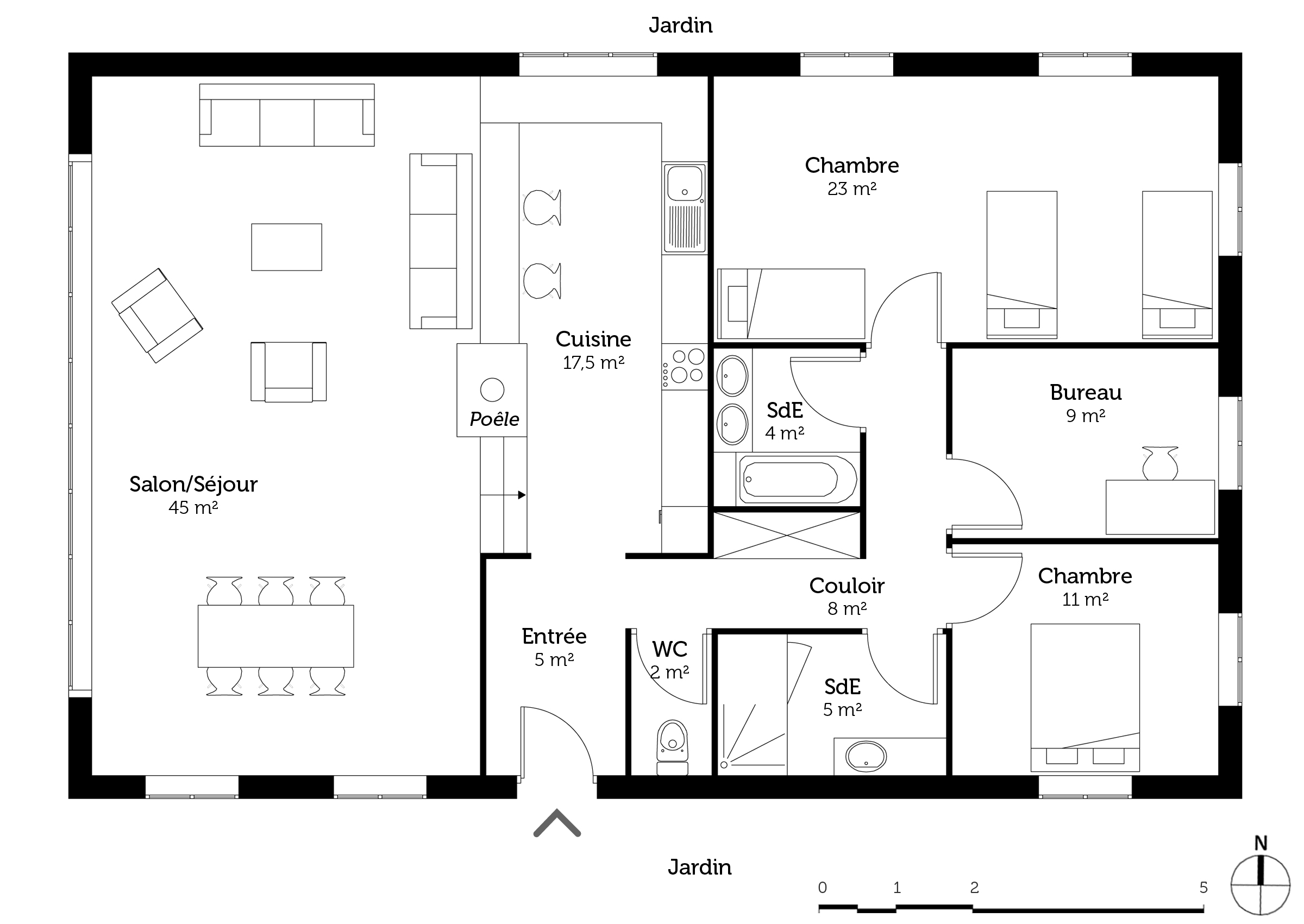 Plan maison de campagne contemporaine ooreka for Plan toiture maison