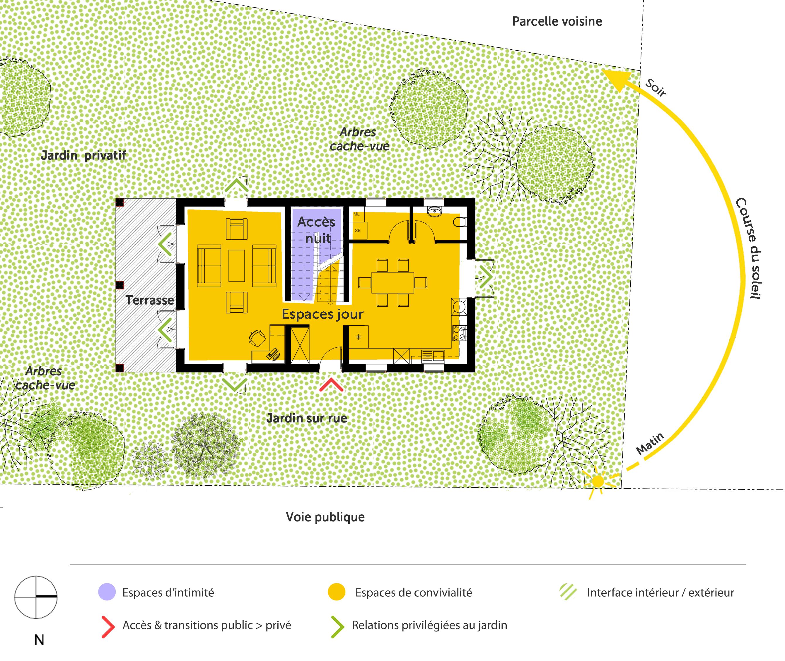 Plan maison tage avec terrasse ooreka - Plan maison provencale avec etage ...