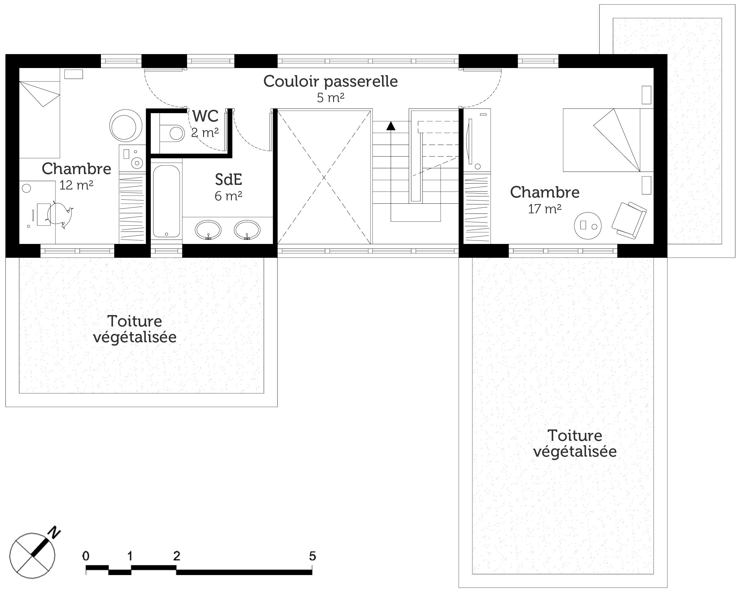 Plan maison en u avec piscine ooreka for Plan de construction