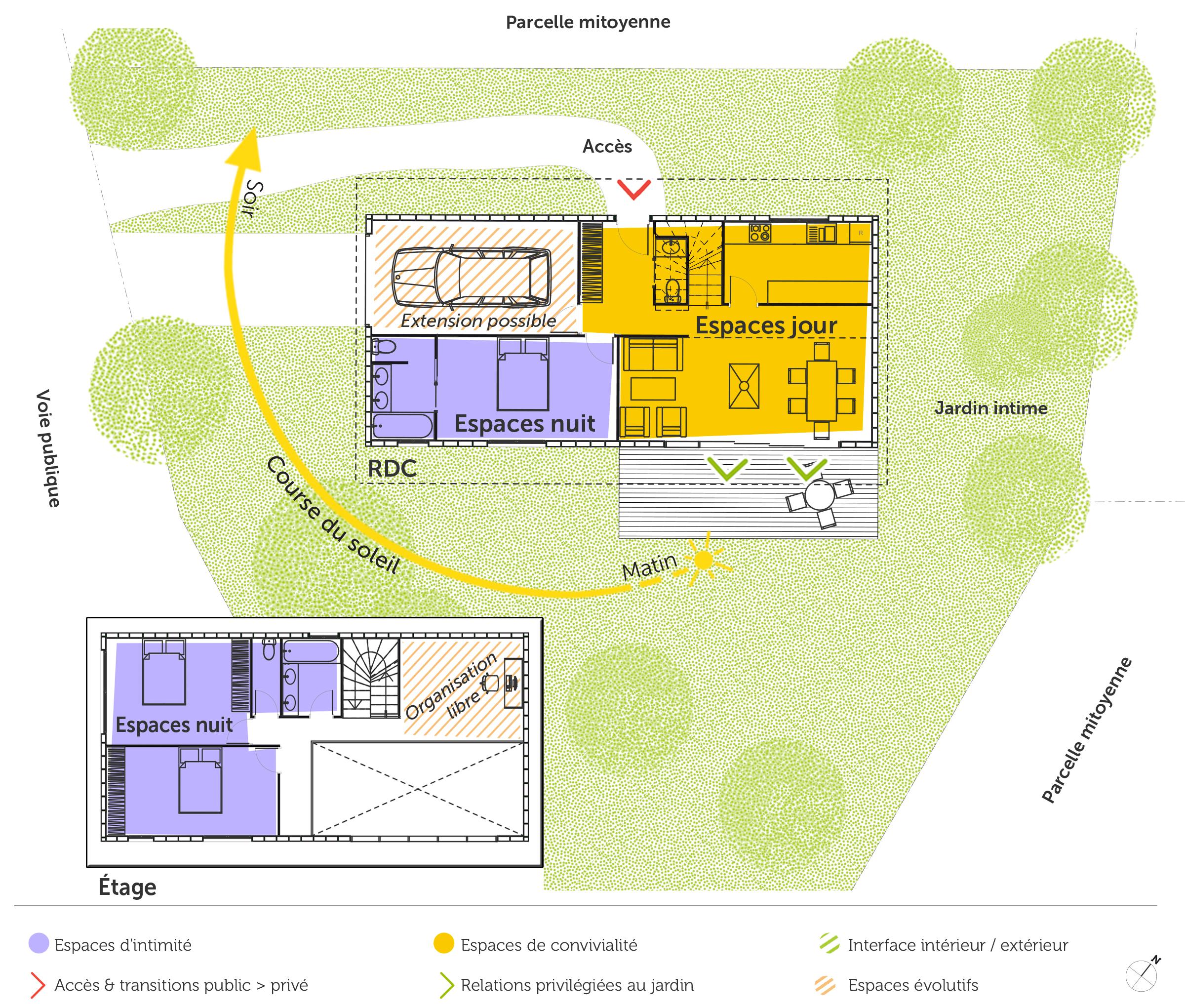 plan maison en bois tage 110 m ooreka. Black Bedroom Furniture Sets. Home Design Ideas