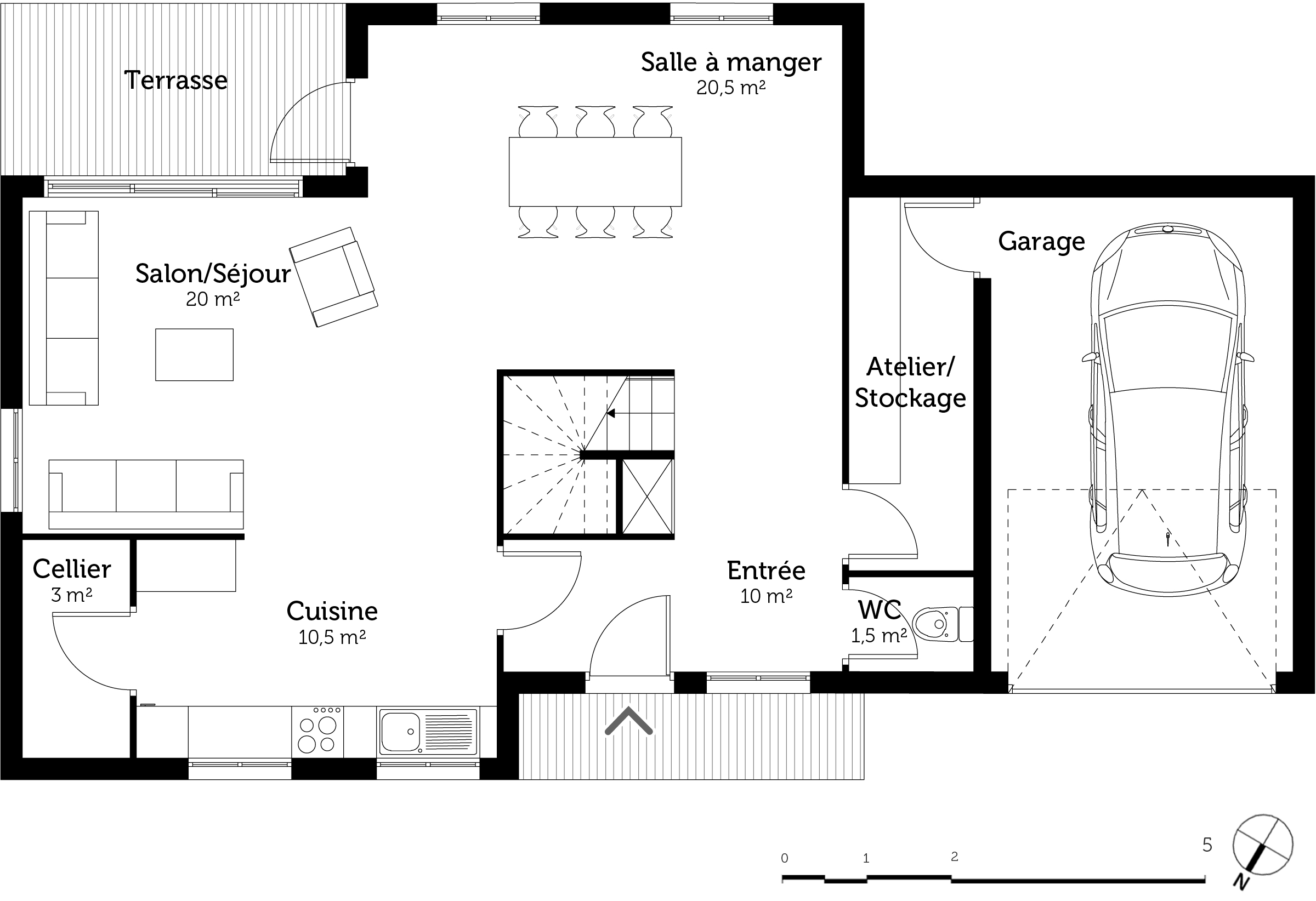 Plan maison 160 m tage ooreka for Abrite des plans et des plans