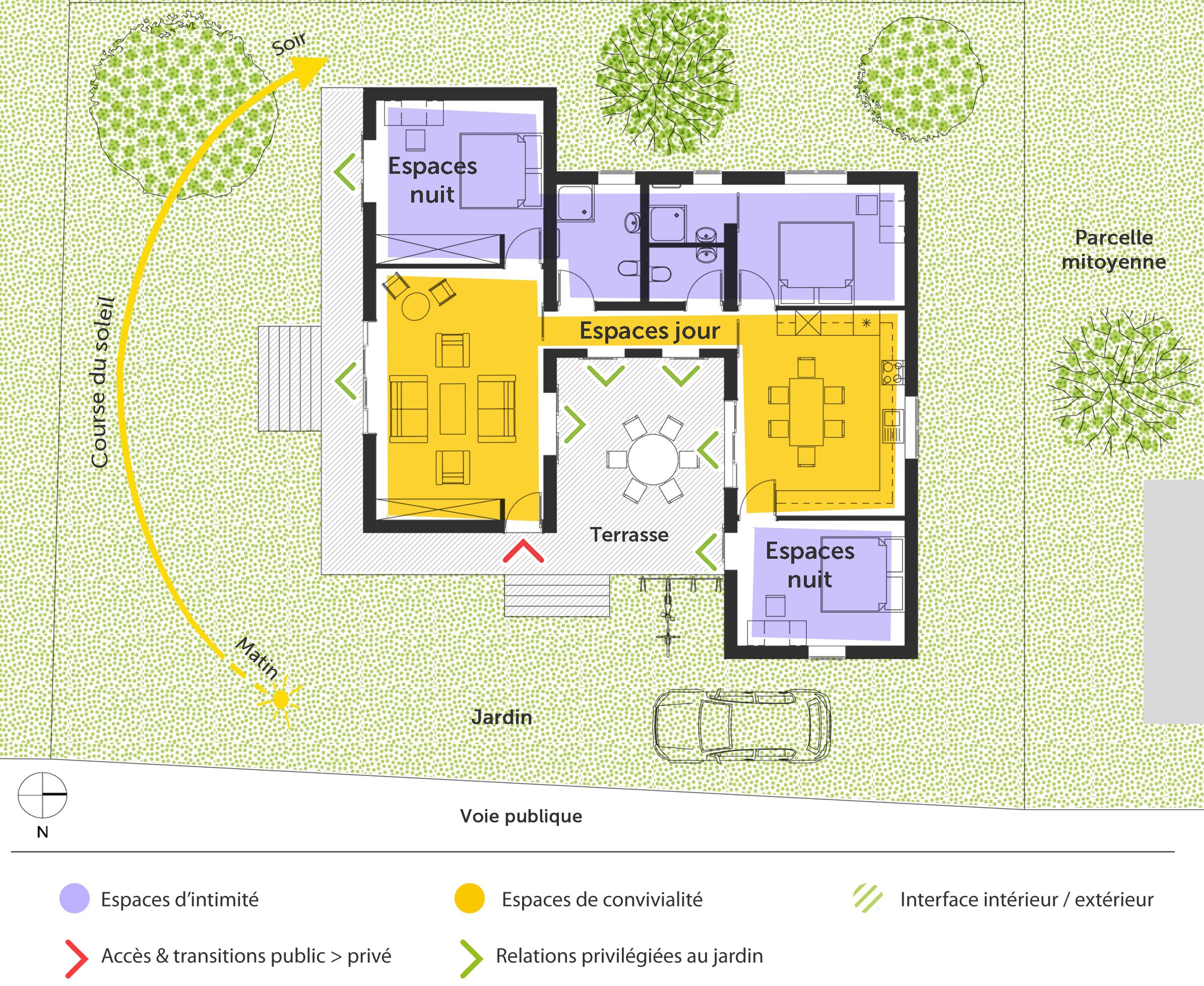 Plan maison 100 m toit plat ooreka for Plan maison exterieur