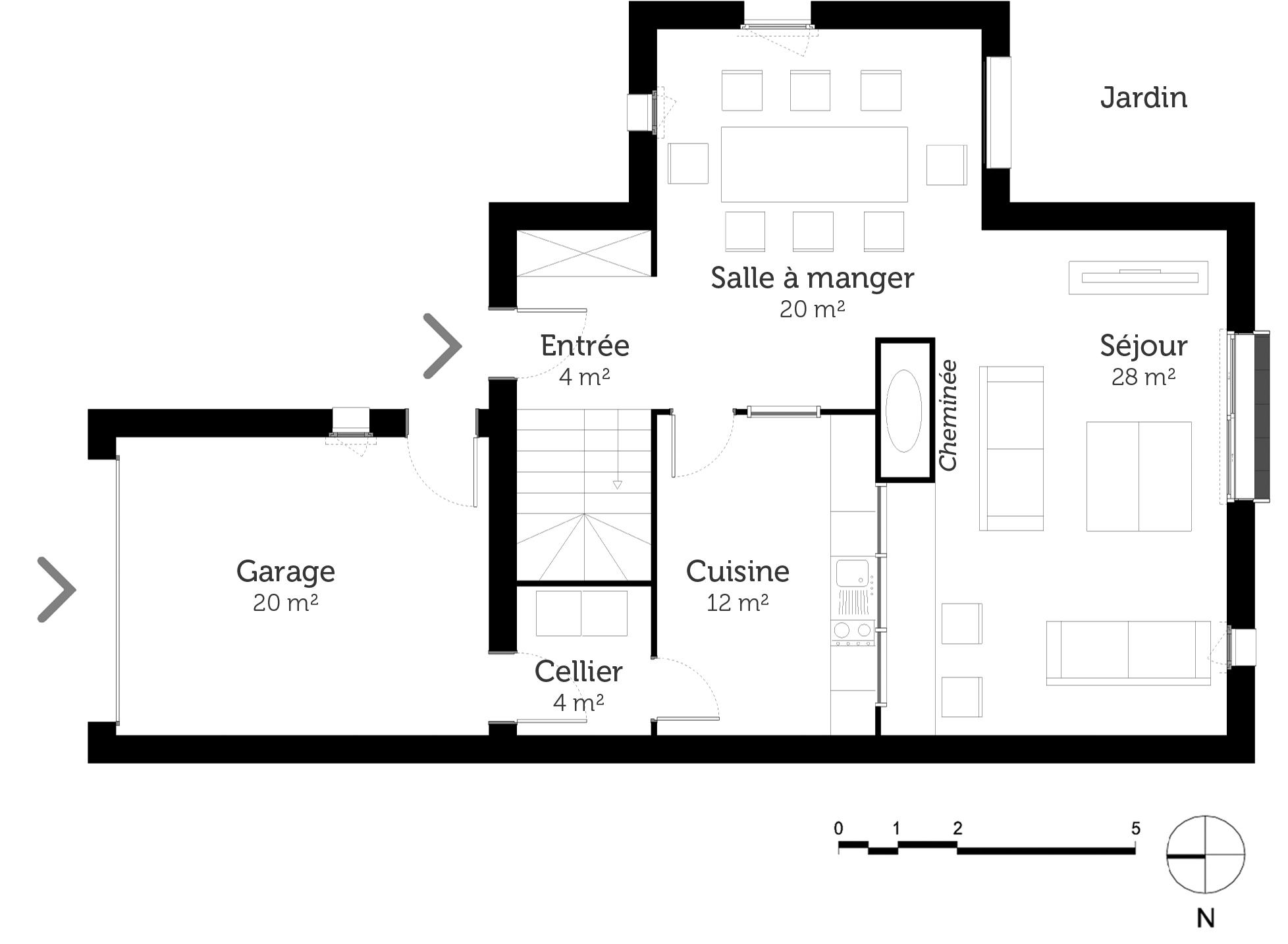 plan maison a tage avec combles am nageables ooreka. Black Bedroom Furniture Sets. Home Design Ideas