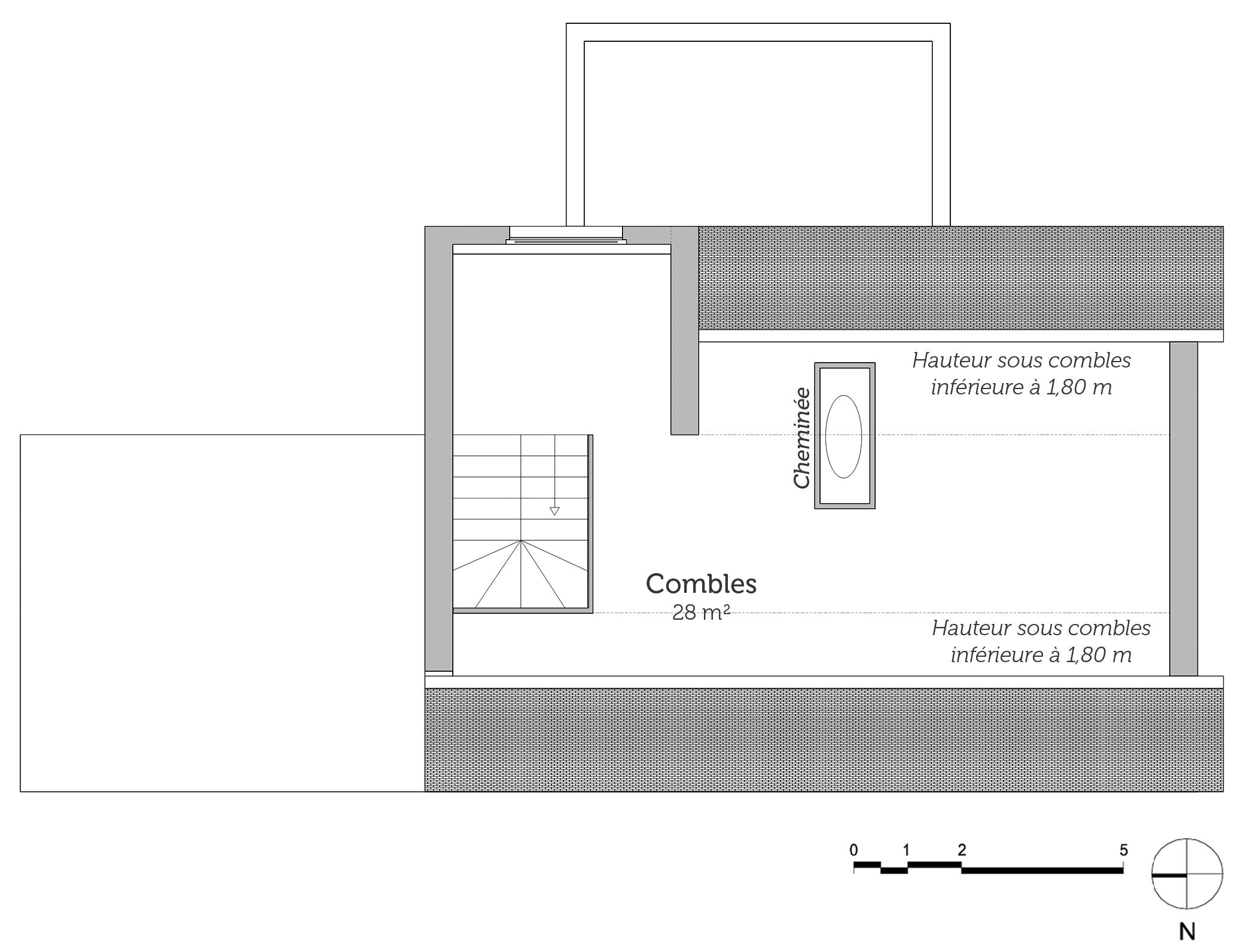 Idee Couleur Salle De Bain Zen : Plan maison a étage avec combles aménageables ‒ Ooreka