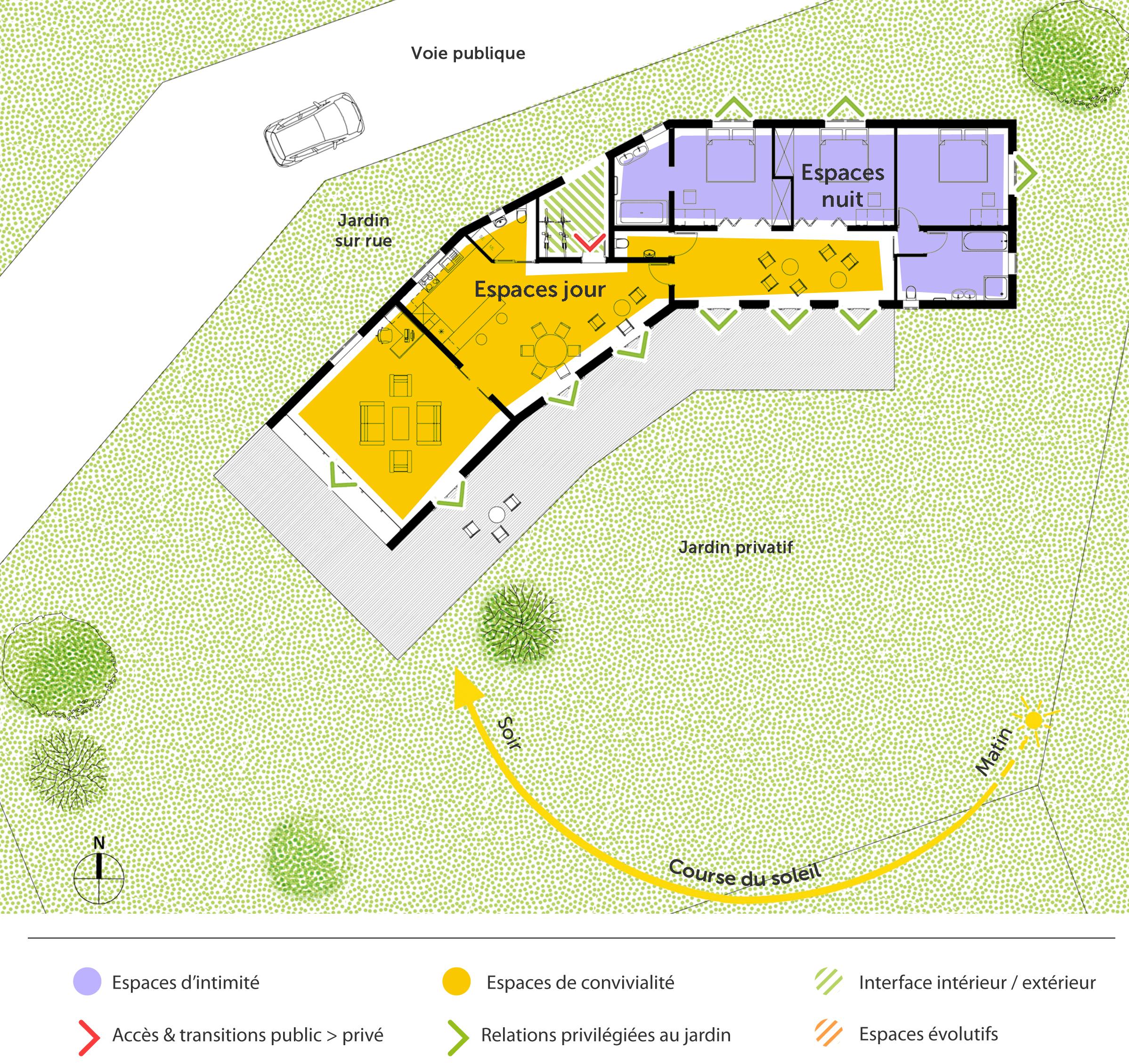 Plan maison de plain pied 160 m ooreka for Plan maison avec jardin interieur