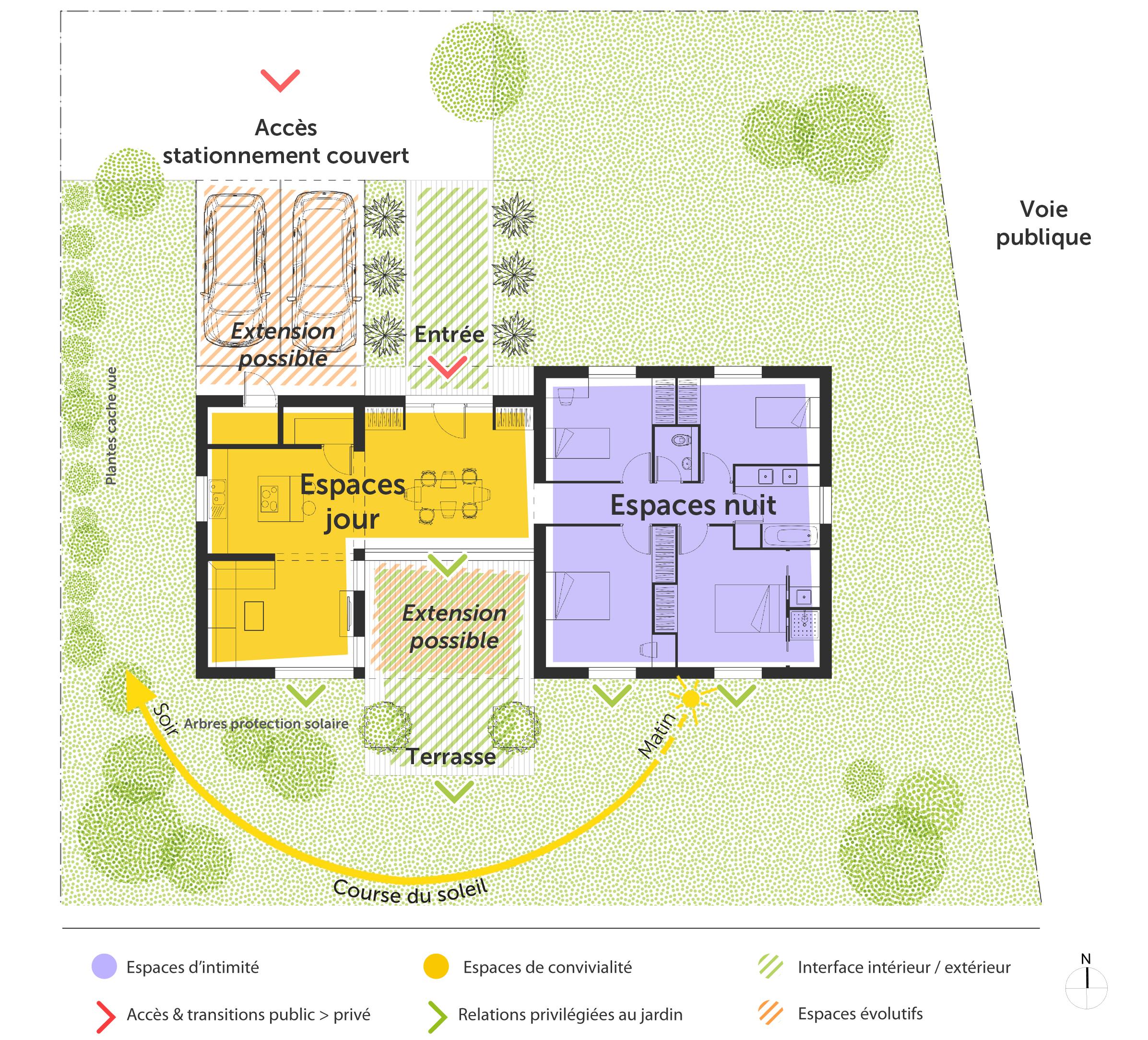 #C29F09 Plan Maison 120 M² Avec Suite Parentale Ooreka 2935 plan de maison avec suite parentale 2393x2168 px @ aertt.com
