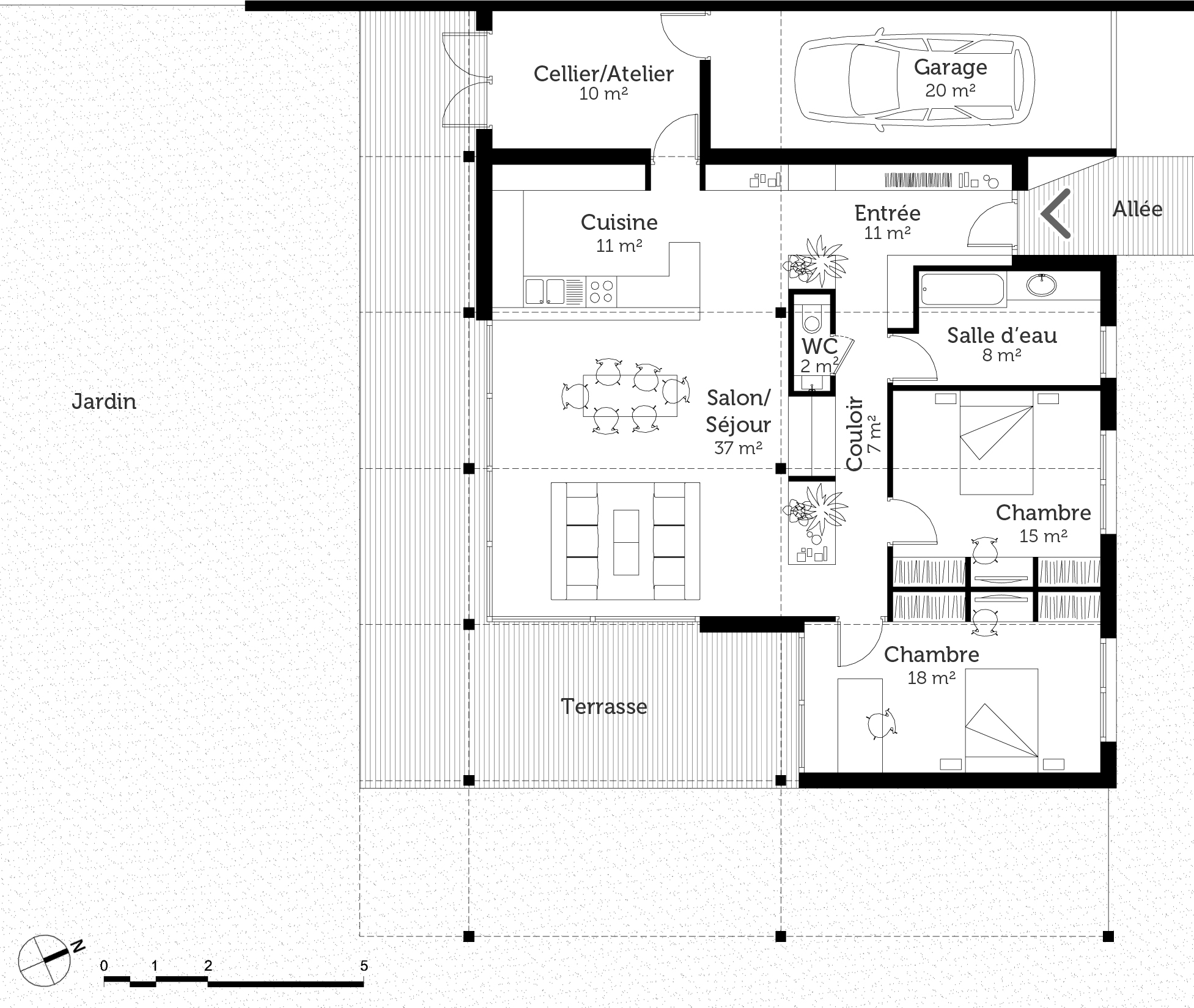 Plan maison loft ooreka for Plan de loft
