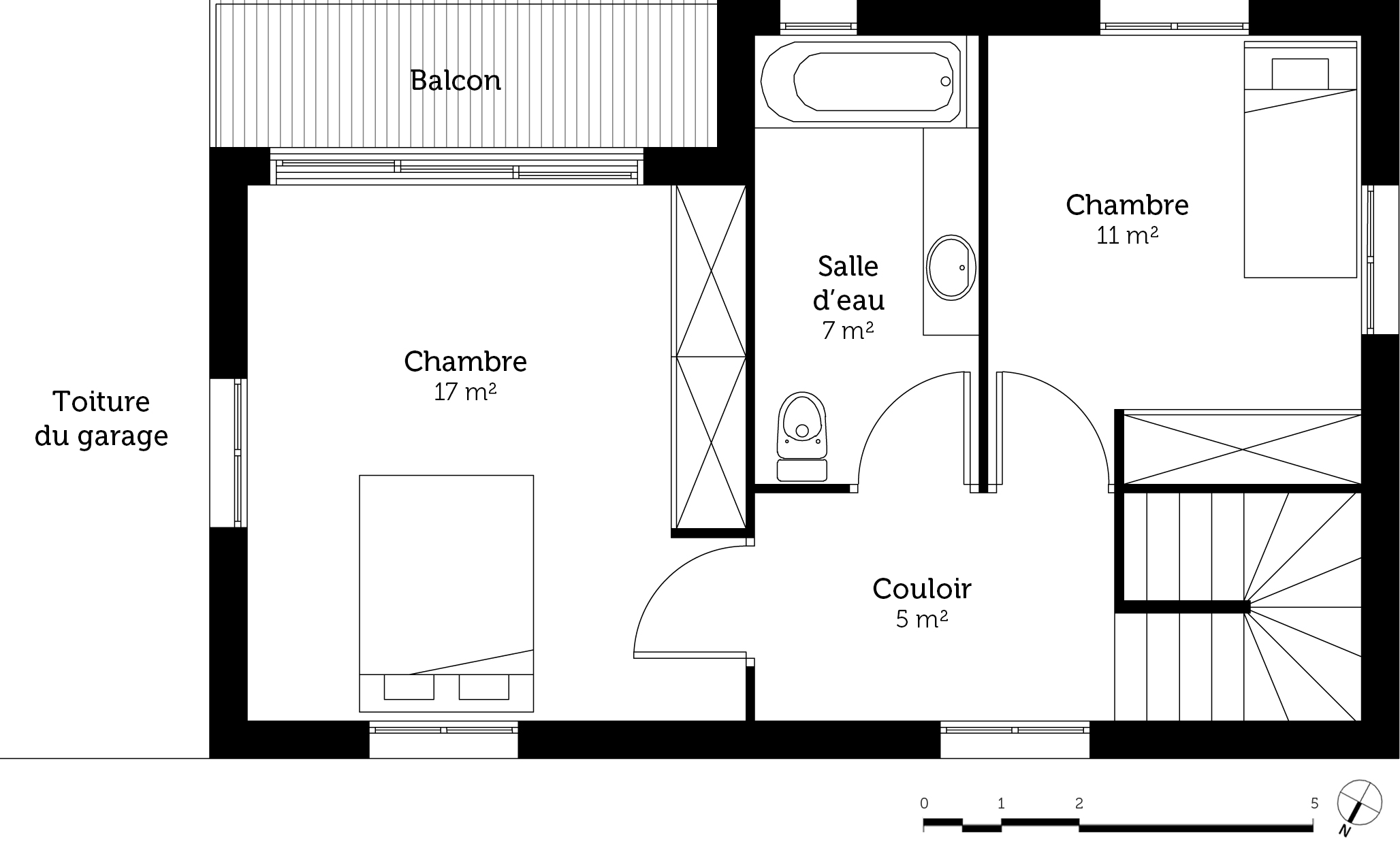 Plan maison 90 m avec balcon ooreka for Plans de maison consultables