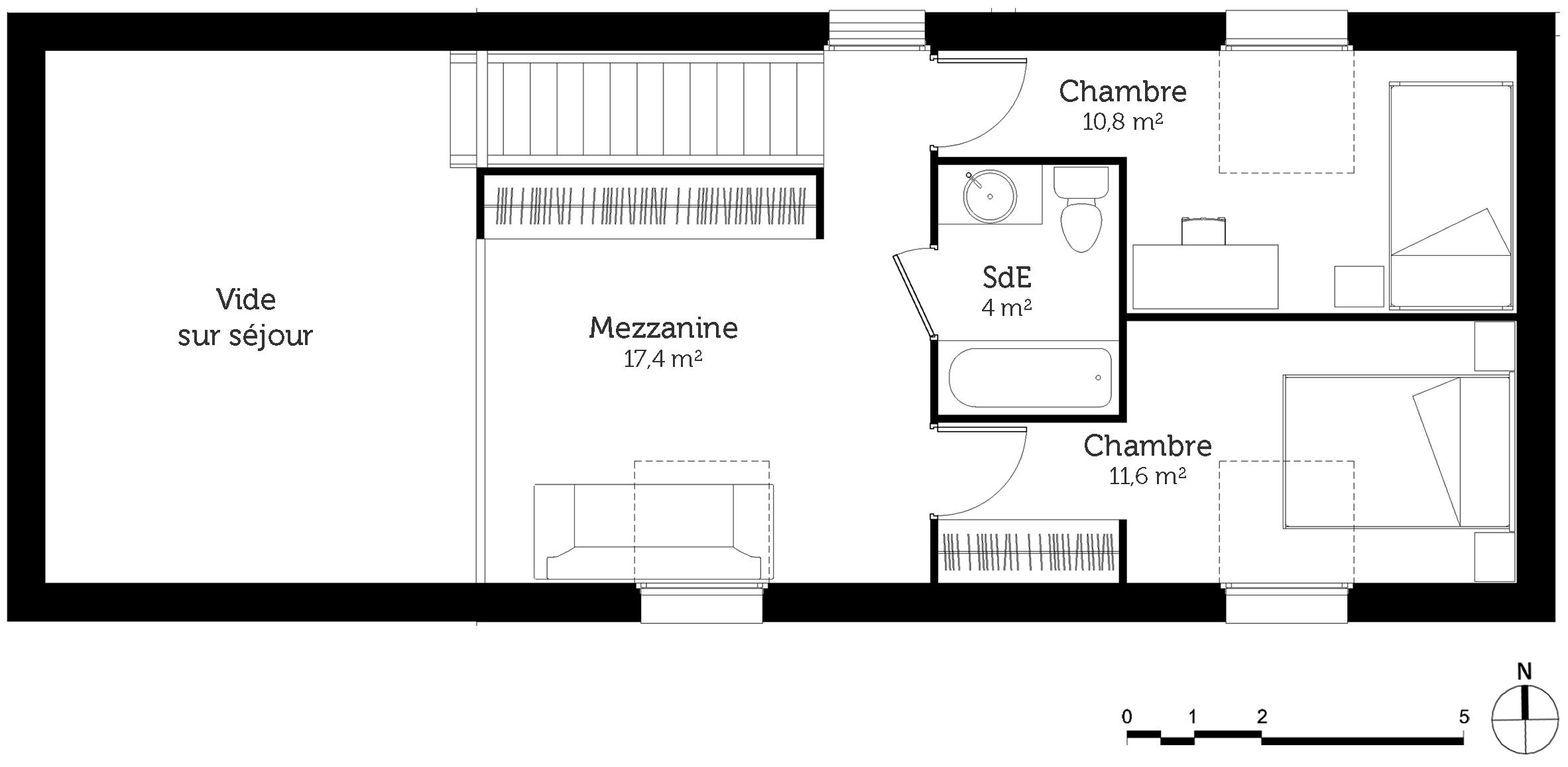 Plan d une maison avec mezzanine maison moderne - Plan maison avec mezzanine ...