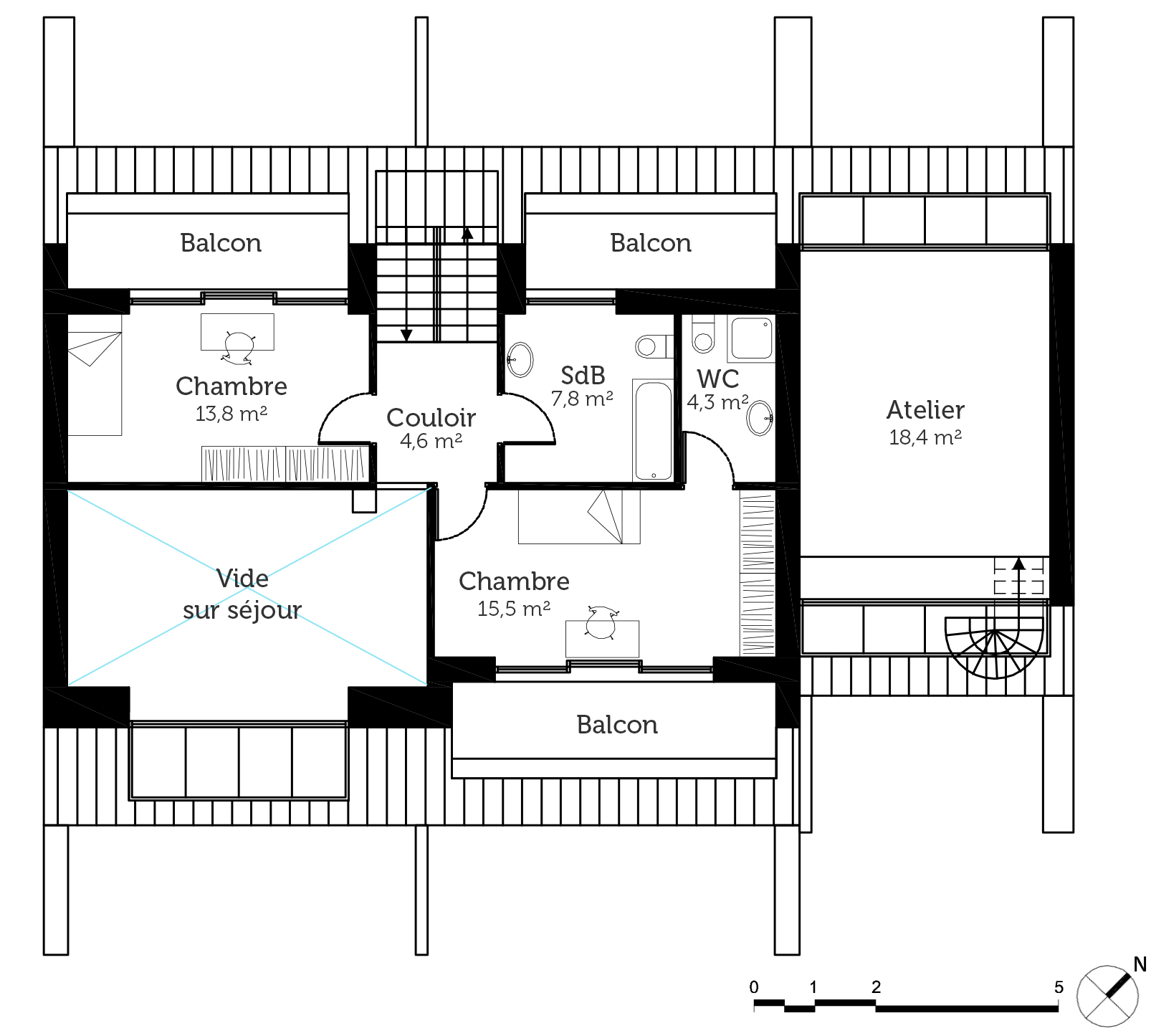 Plan maison moderne d'architecte - Ooreka