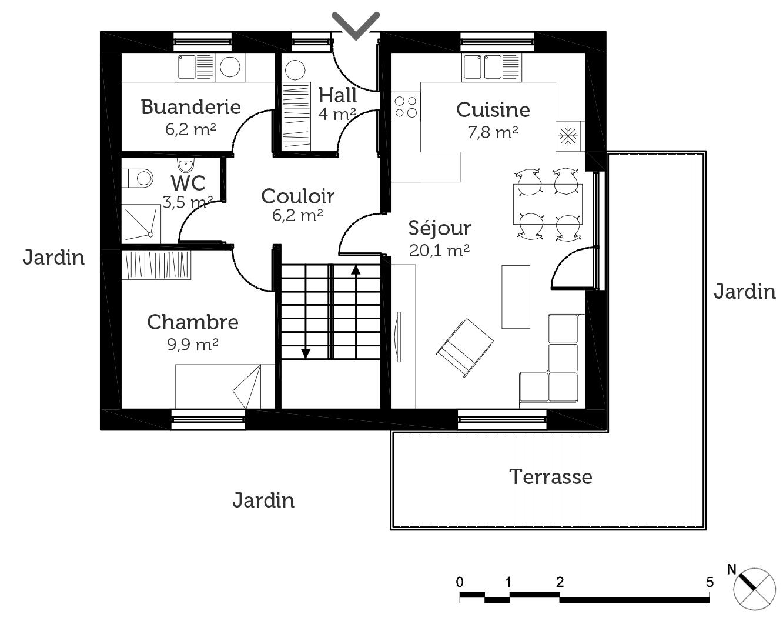 Plan maison traditionnelle 100 m ooreka for 100 plans de maison
