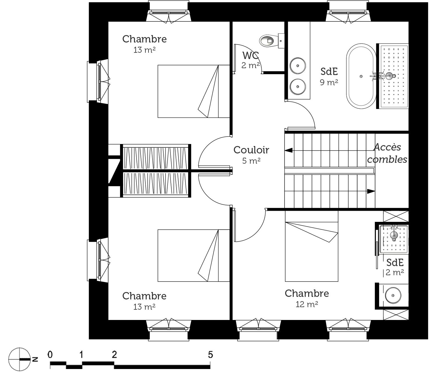 plan maison bourgeoise