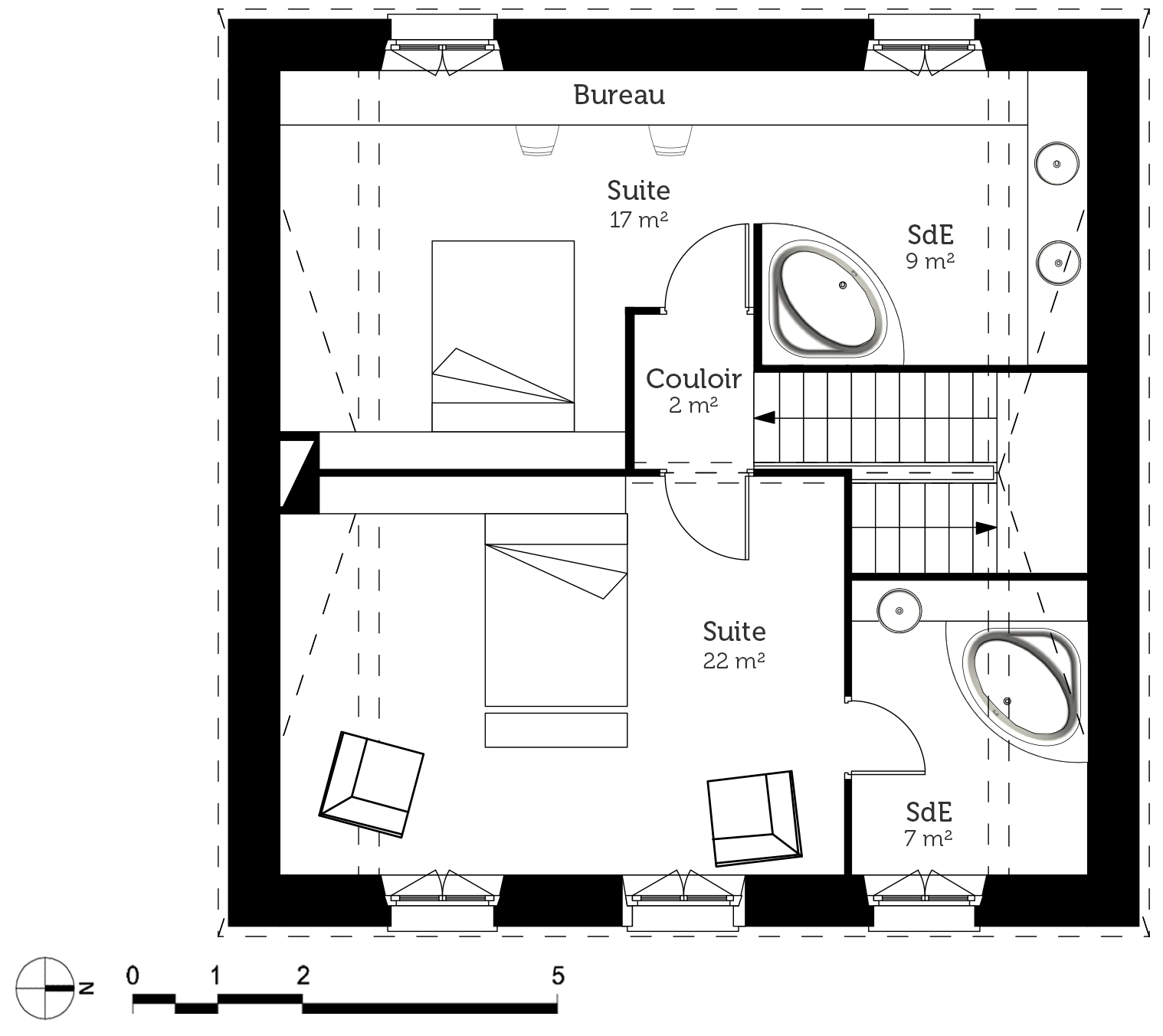 Plan maison bourgeoise ooreka for Plan de combles