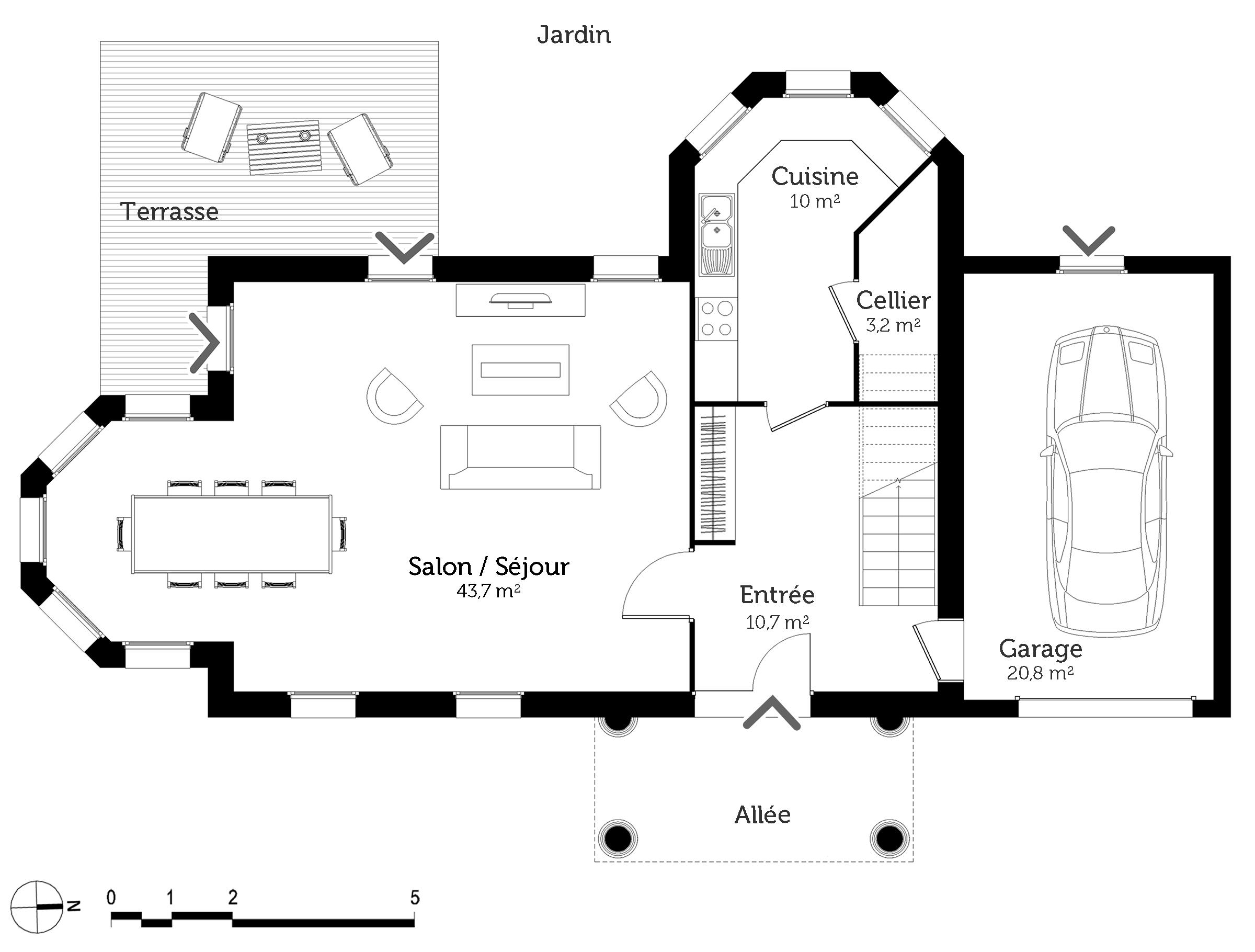 plan maison victorienne