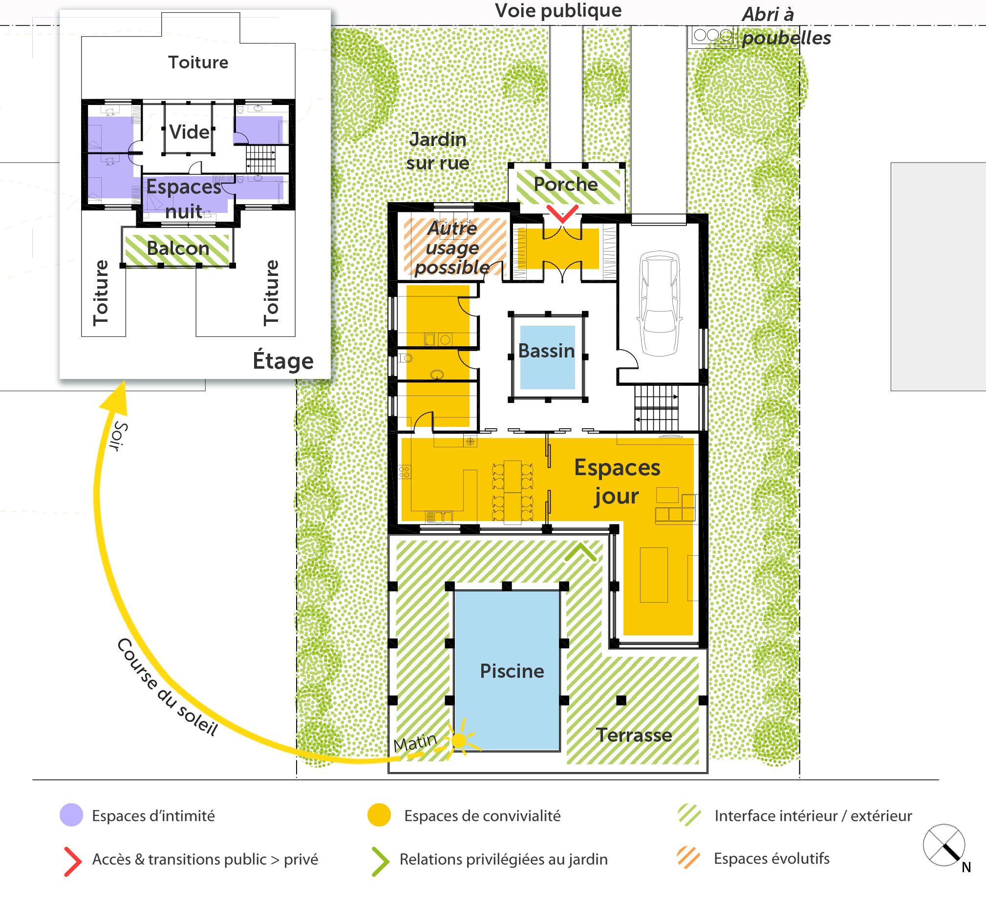 plan maison romaine 3d