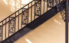 L'escalier en fer forgé
