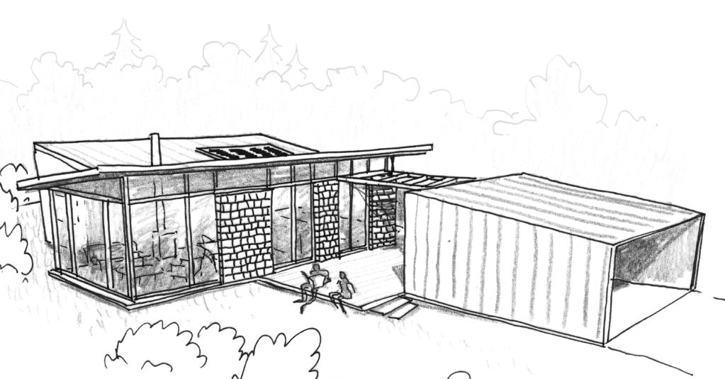 Esquisse 3D Plan De Maison Moderne De Plain Pied Avec 3 Chambres