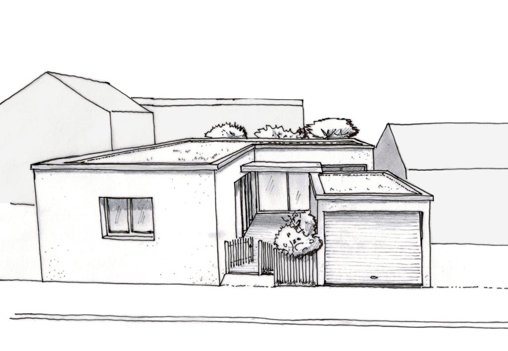 Esquisse 3D Plan De Maison Moderne De Plain Pied