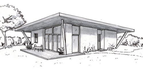 Plan maison moderne en v ooreka for Dessiner plan patio