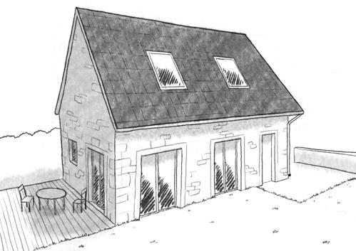 Plan maison de 70 m avec garage ooreka - Plan de maison a etage avec garage ...
