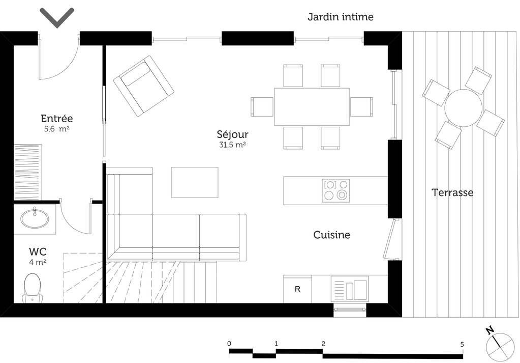 Plan Maison  tage Avec  Chambres  Ooreka