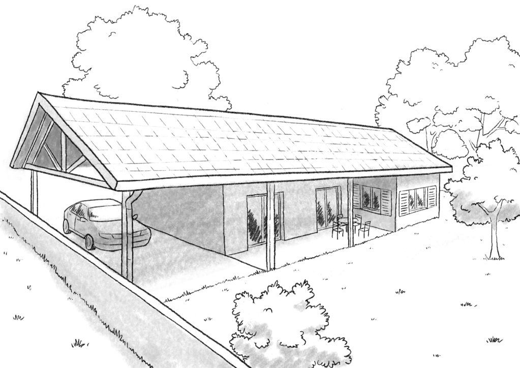 Plan maison plain pied avec 3 chambres ooreka for Maison plan 3d