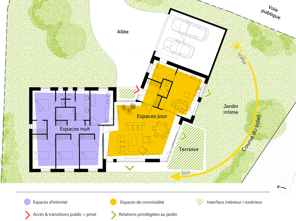 Plan Maison PlainPied En V  Ooreka