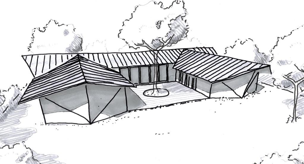 Esquisse 3D Plan De Maison De Plain Pied Avec 5 Chambres