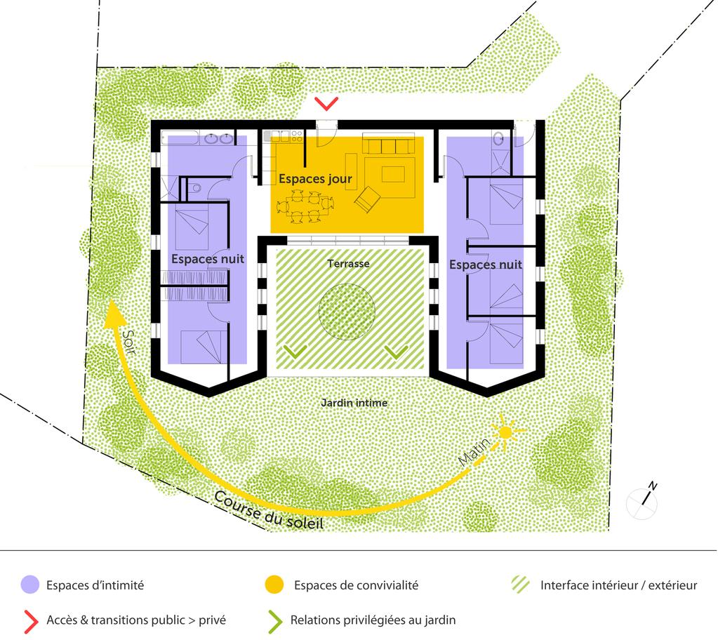plan de maison 5 chambres plain pied