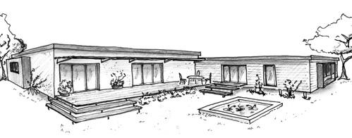 Plan maison de plain pied 160 m avec 4 chambres ooreka for Plan maison contemporaine toit plat gratuit