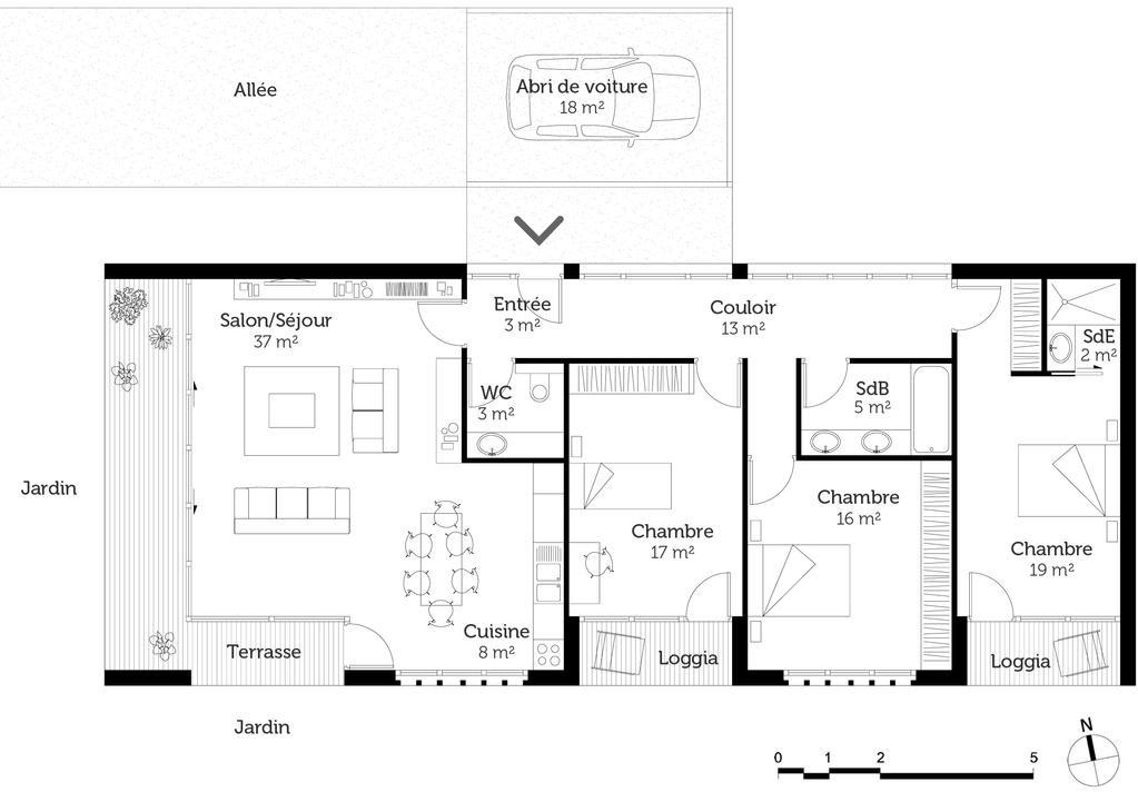 Plan De Maison Moderne Toit Plat Gratuit Perfect Plan De Maison
