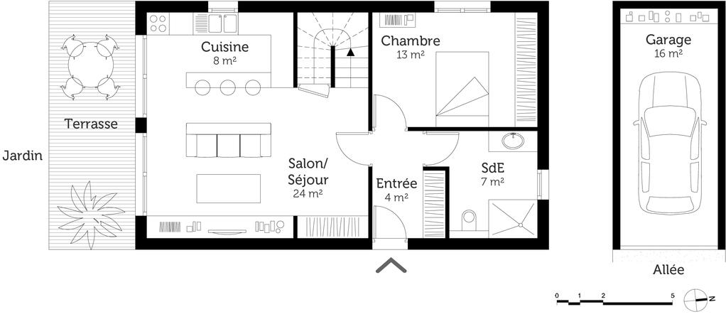 plan maison tage 3 chambres ooreka. Black Bedroom Furniture Sets. Home Design Ideas