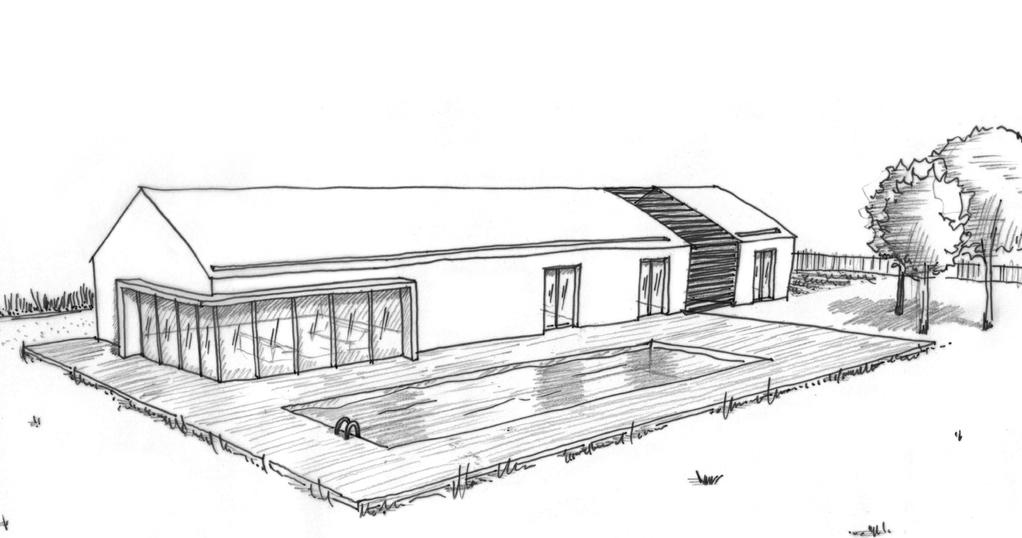 Plan maison plain-pied avec piscine - Ooreka