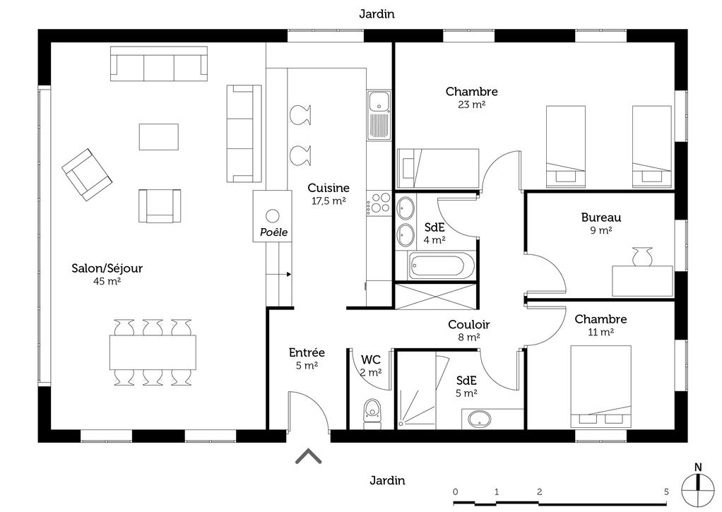 plan de maison de campagne