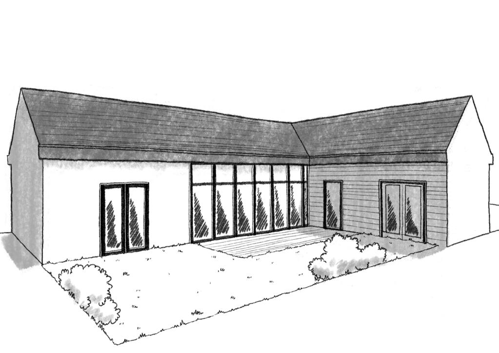 Plan maison de plain pied 100 m avec 3 chambres ooreka for Maison 100m2 plein pied