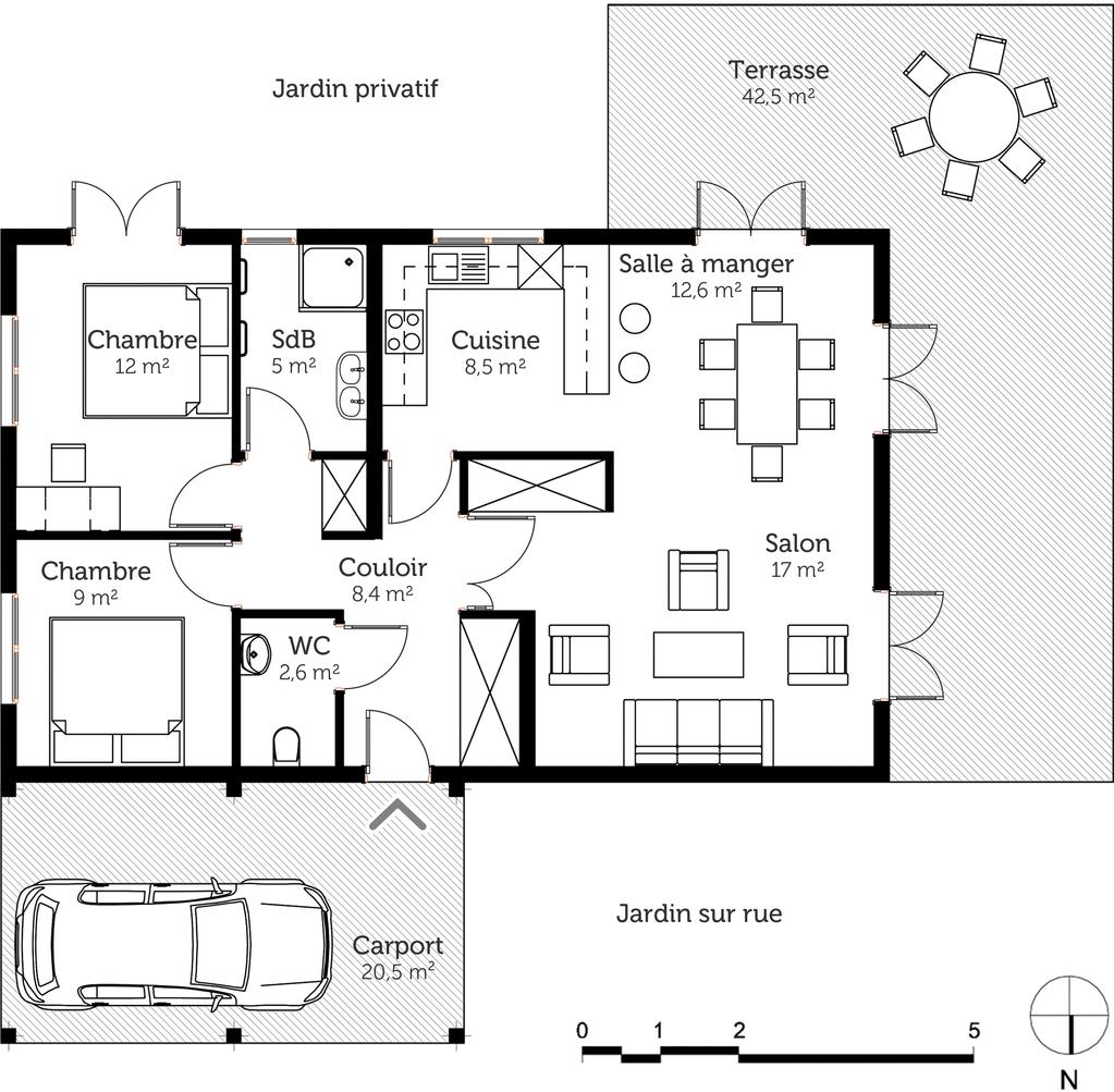 plan de maison 80 m