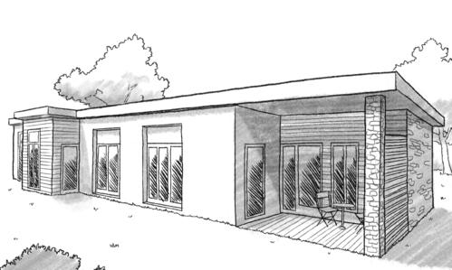 Plan maison rectangulaire avec patio ooreka - Maison bois rectangulaire ...