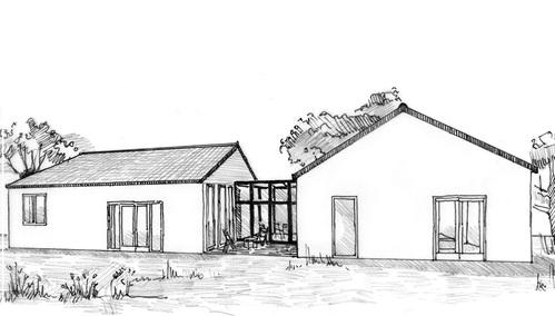 Plan maison de plain pied 130 m ooreka for Plan maison passive plain pied