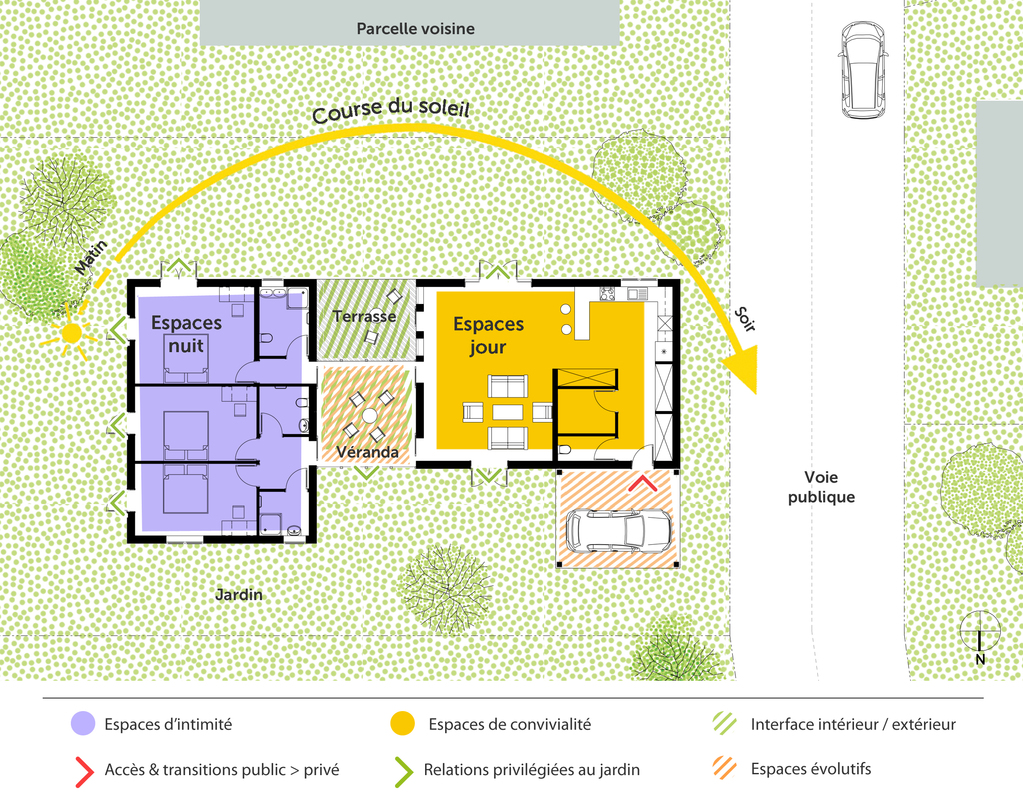 Plan maison de plain pied avec v randa ooreka - Veranda plan de campagne ...