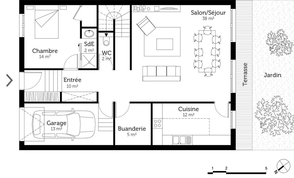 plan de maison 170 m