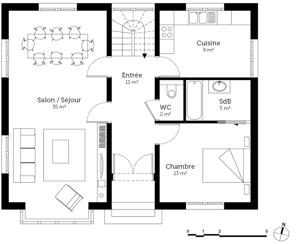 Plan maison anglaise ooreka for Plan d maison
