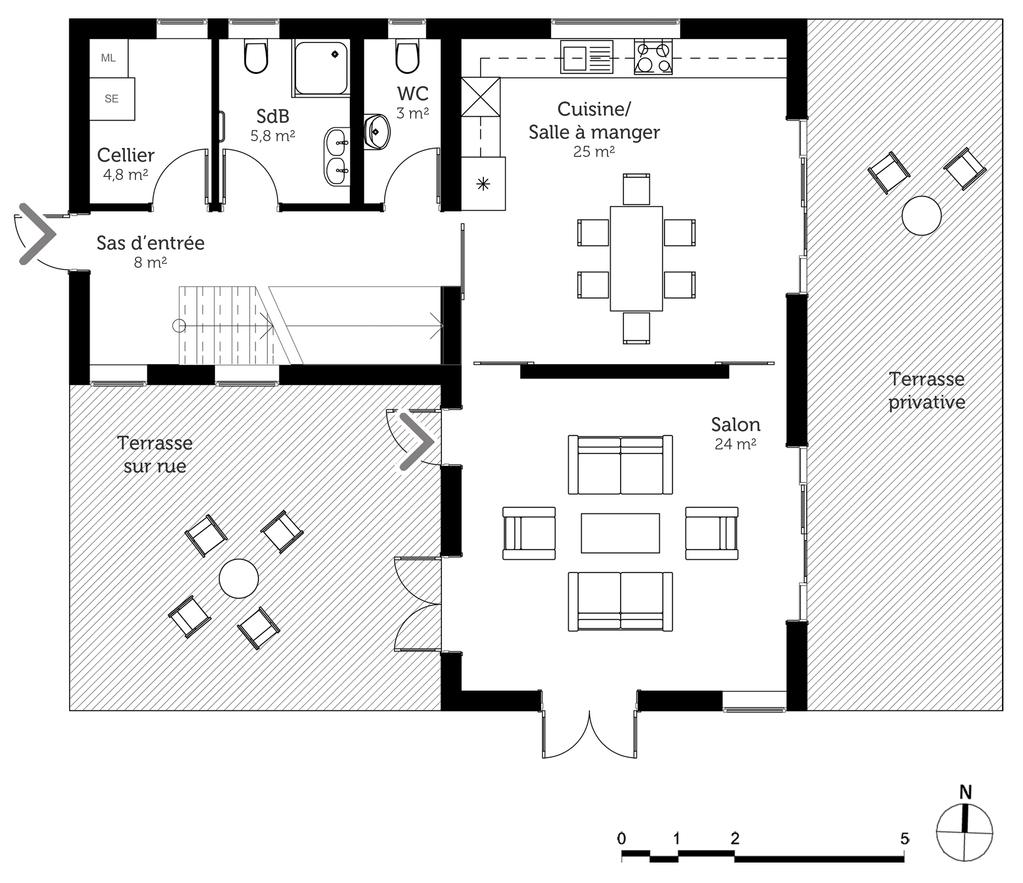 Plan De Maison Moderne plan maison moderne à étage - ooreka
