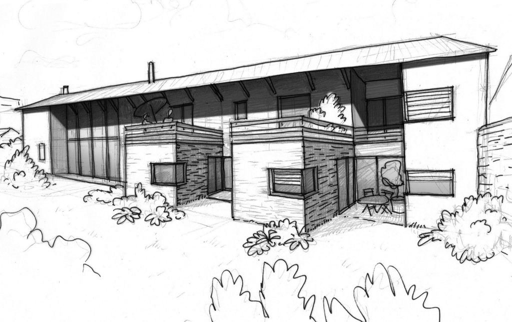 Plan maison d 39 h te design ooreka for Maison hote design