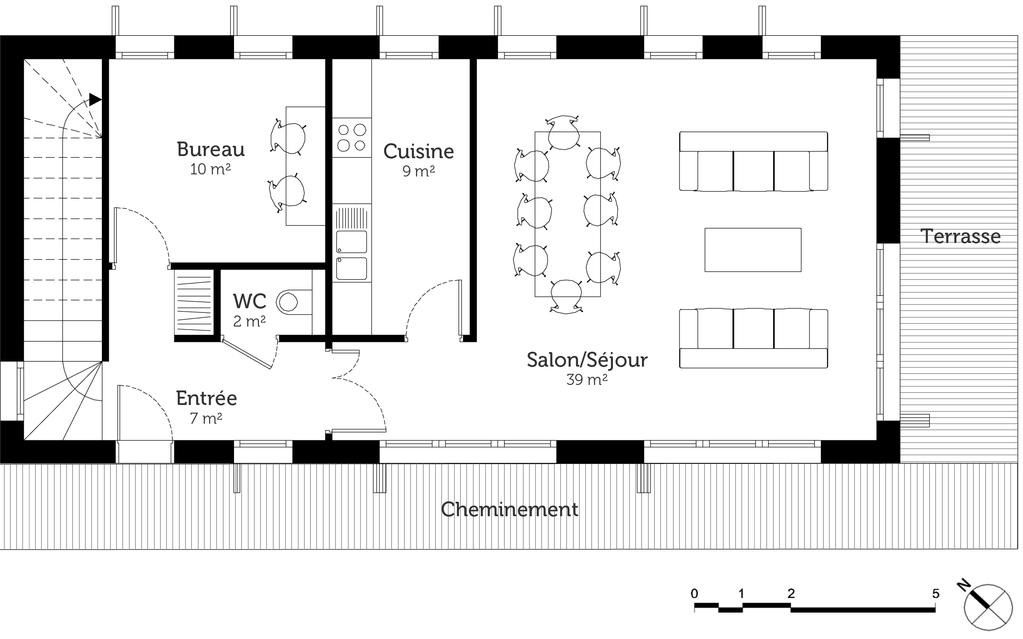 Plan Maison Provencale De Plain Pied Ooreka 1